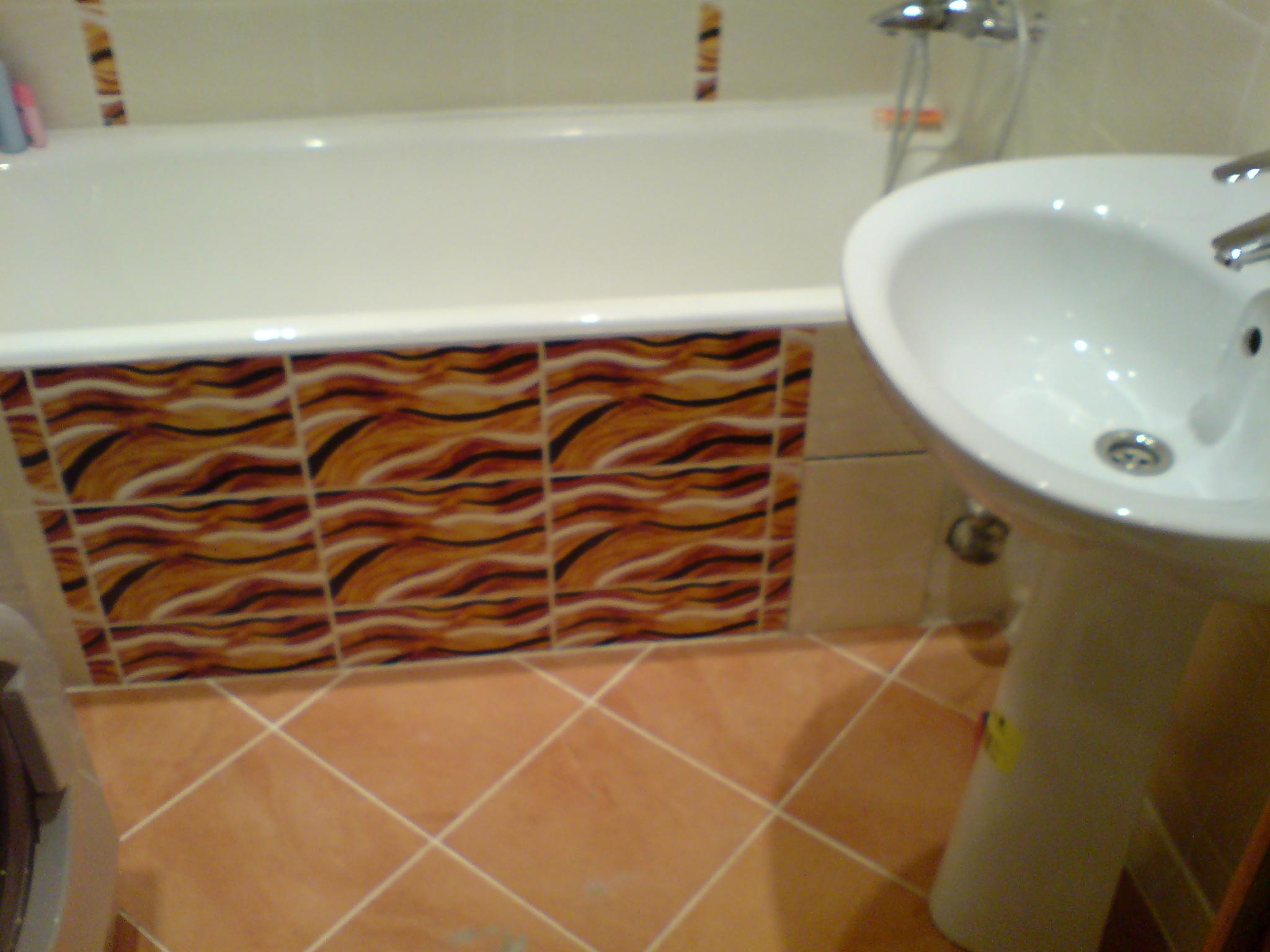 Фото стандартных ванн